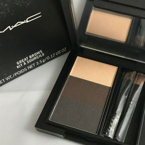 """NIB MAC Great Brows """"SPIKED"""" brow kit with brushes"""